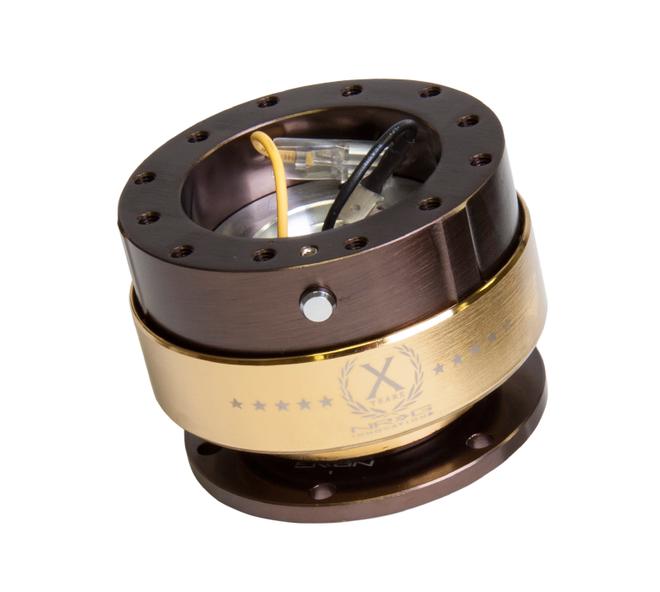 NRG Gen 2.0 Quick Release - Bronze Body / Chrome Gold Ring