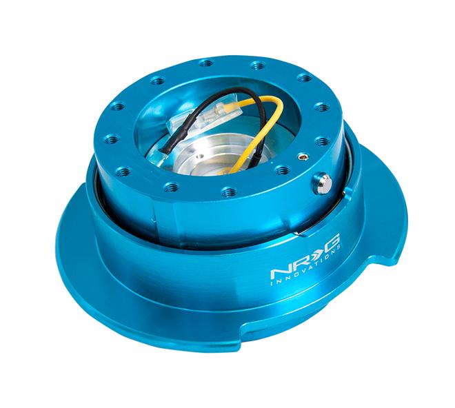 NRG Quick Release Kit Gen 2.5 - New Blue Body/Titanium Chrome Ring