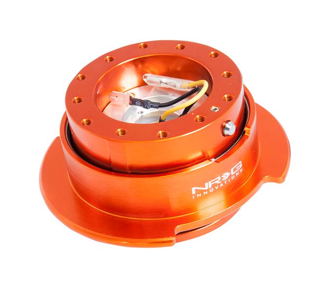 NRG Quick Release Kit Gen 2.5 - Orange Body/Titanium Chrome Ring