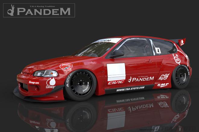 Pandem by TRA Kyoto Aero - Honda Civic (EG) Kit
