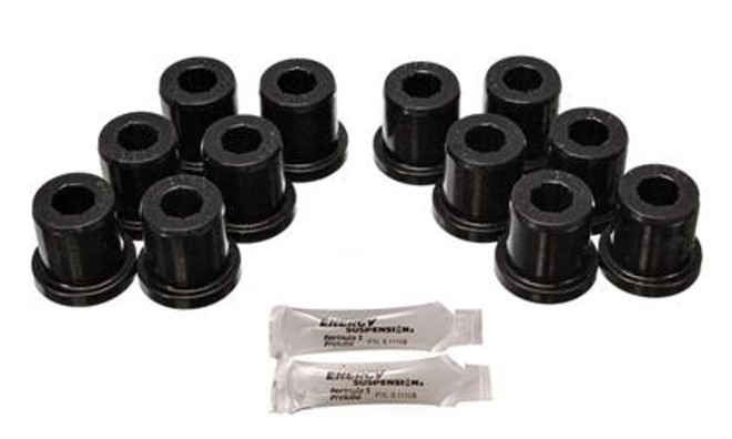 Energy Suspension 81-89 Toyota Landcruiser 2/4WD Blk Front & Rear Leaf Spring Bushing Set