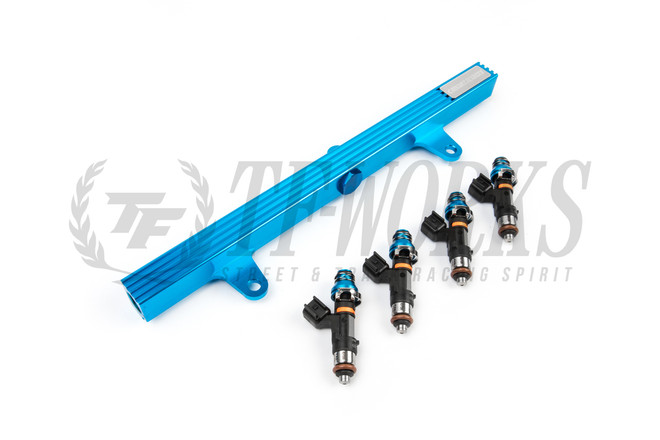 S13 SR20DET Top Feed Fuel Rail Package:  P2M + ID1050x Injectors