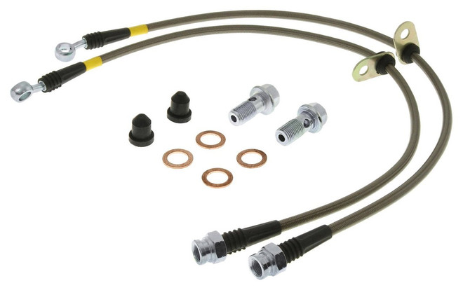 15-17 Mustang GT w// Perf Pak Brembo StopTech Front Stainless Steel Brake Lines