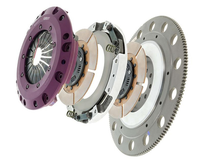 Exedy Racing Stage 4 Twin Metallic Clutch Kit - 15-16 Ford Mustang GT V8