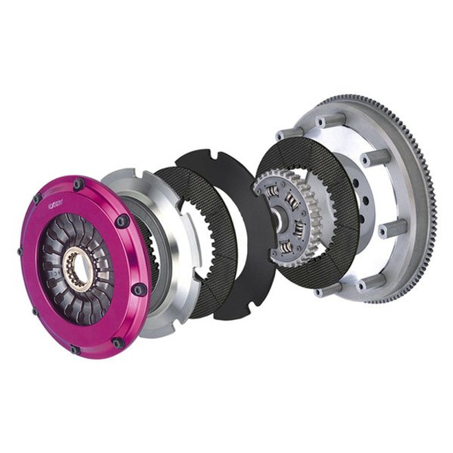 Exedy Stage 4 Cerametallic Front w Sprung Center Racing Clutch Kit - 15-16 Ford Mustang GT V8