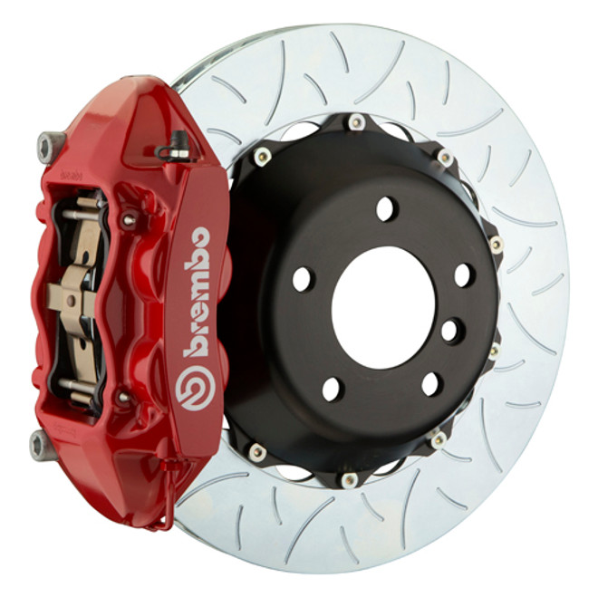 Brembo GT Series Type 3 Slotted 2-Piece Rotor Rear Big Brake Kit - 15-17 Ford Mustang GT