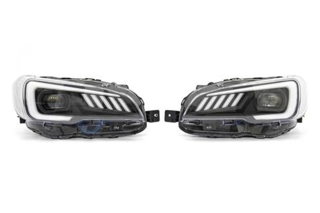SubiSpeed LED Headlights DRL and Sequential Turn Signals w/ Hardware Kit -  Subaru STI 2015-2017 / WRX 2015+