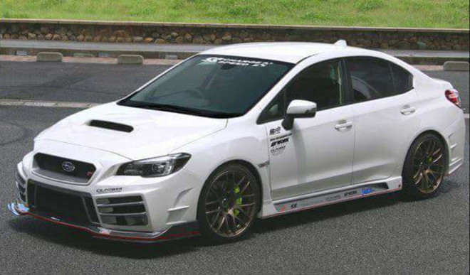 ChargeSpeed 2015-19 WRX 4Dr T-3B Carbon Fiber Front Bumper