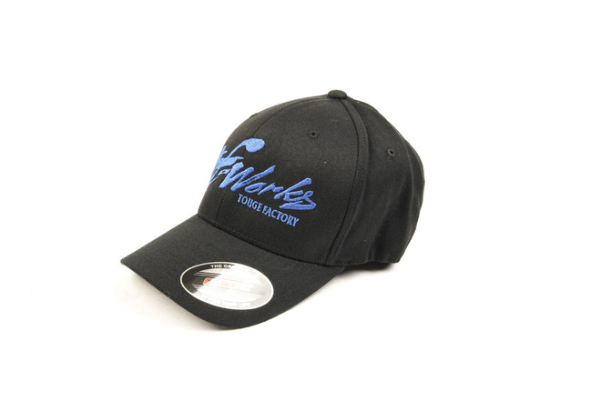 "TF-Works ""Splash"" FlexFit Hat - Black / Royal Blue Logo"