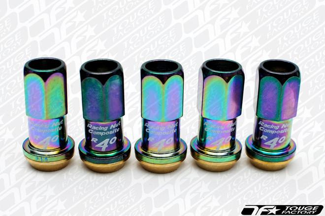 KICS Project R40 Composite Racing Lug Nuts NeoChrome