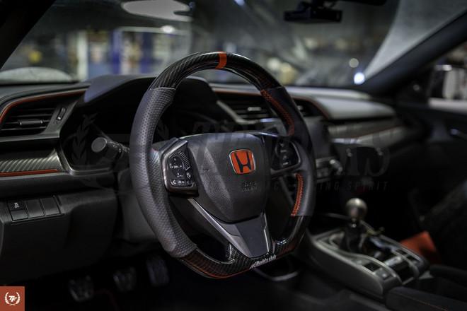 Buddy Club Racing Spec Carbon Steering Wheel Honda Civic Type R FK8