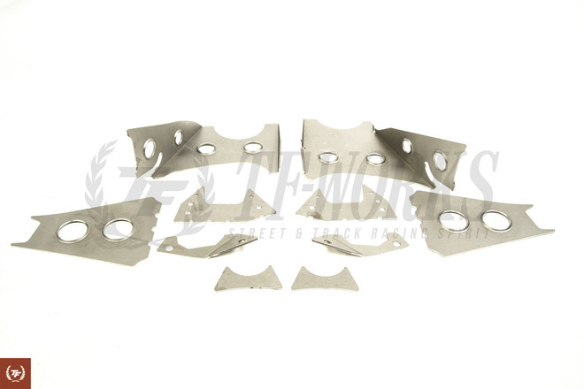 GKtech V2 S14 240SX /S15 SILVIA/R33/R34 Skyline Subframe Weld In Reinforcement Plates