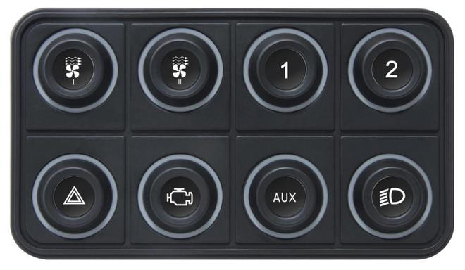 ECUMaster CAN Keyboard - 8 Position