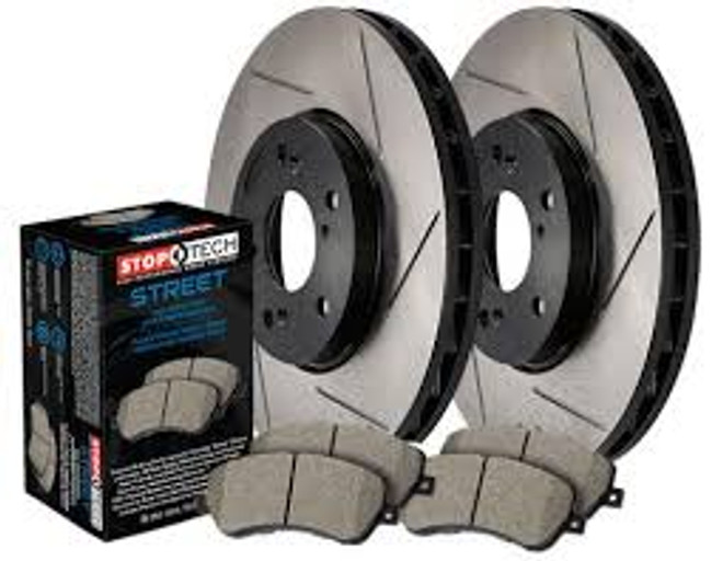Stoptech Slotted Rear Rotors for 240SX - Set of 2 Rotors + Rear Pads