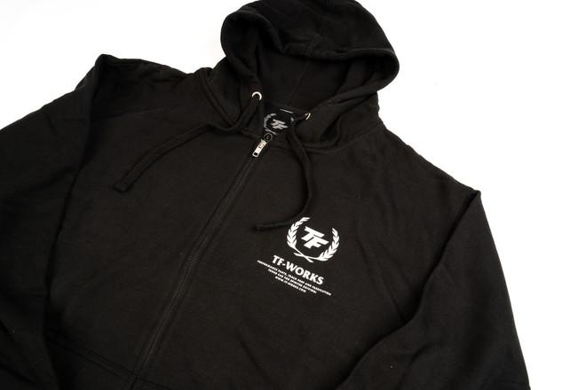 TF-Works Splash Zip-Up Hoodie with White Logo