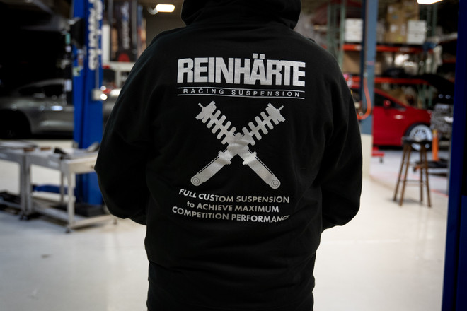Reinharte Racing Suspension Zip-Up Hoodie