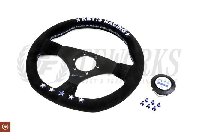 Key's Racing Anniversary Edition 325mm Steering Wheel - Suede