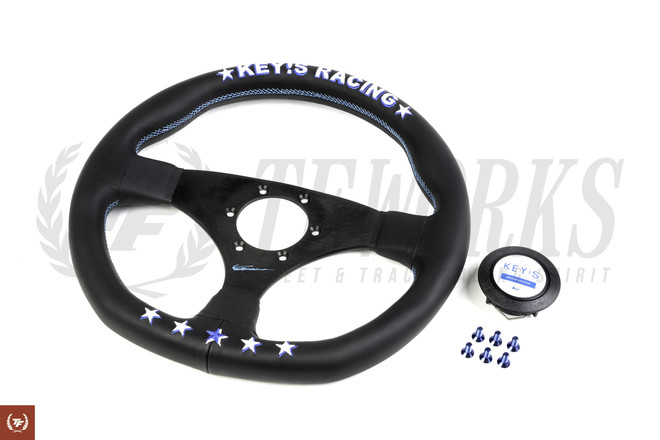 Key's Racing Anniversary Edition 325mm Steering Wheel - Leather