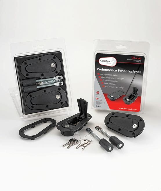 Aerocatch Xtreme Plus Flush Above Panel Locking Hood Latch Pins - Black