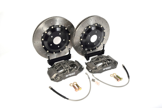 AP Racing Radi-CAL 9660/372mm Competition Front Brake Kit by Essex - Tesla Model 3