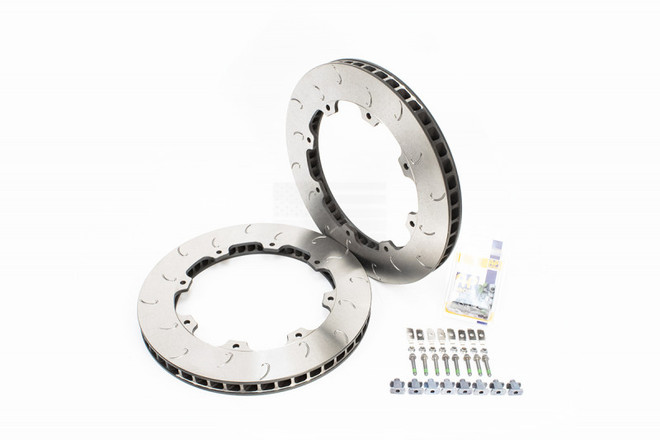 Copy of AP Racing J Hook Disc Pair with Hardware (FRONT 380x34mm, use OE hats)- R35 Nissan GT-R