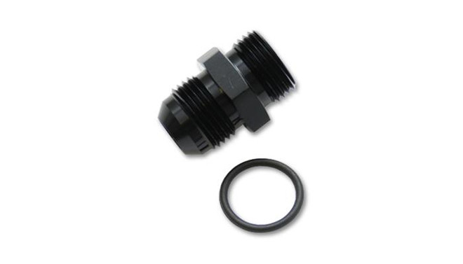 Vibrant Performance Anodized Black -10AN Flare to -10AN Straight Cut Adapter Fitting with O-Ring