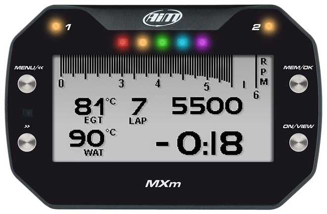 AiM Sports - MXm LCD Dash Logger