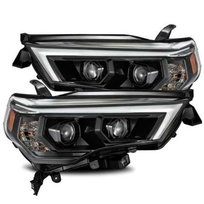 AlphaRex LUXX Headlights -Plank Style Alpha Black - Toyota 4Runner 2014/20