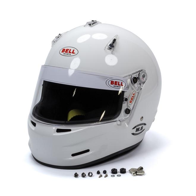 Bell M8 Snell SA2020 Motorsports Helmet - White