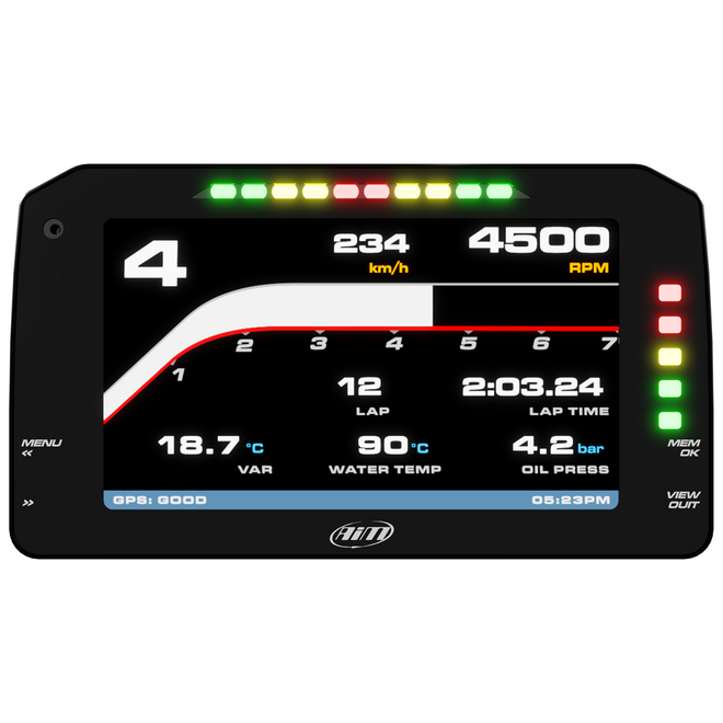 "AiM Sports TFT 6"" Display for PDM - Race Icons"