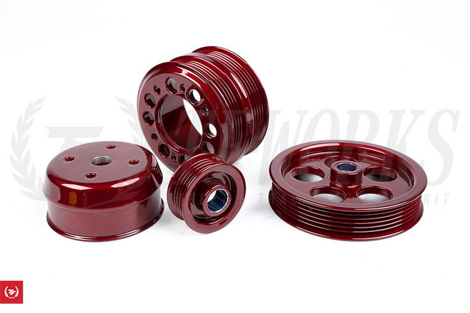 TF Lightweight Aluminum Pulley Kit Mazda RX7 FD3S 13B - Illusion Red