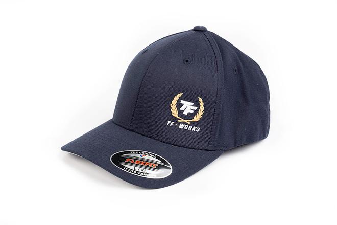 TF-Works Laurel Flex Fit Hat - Navy Blue