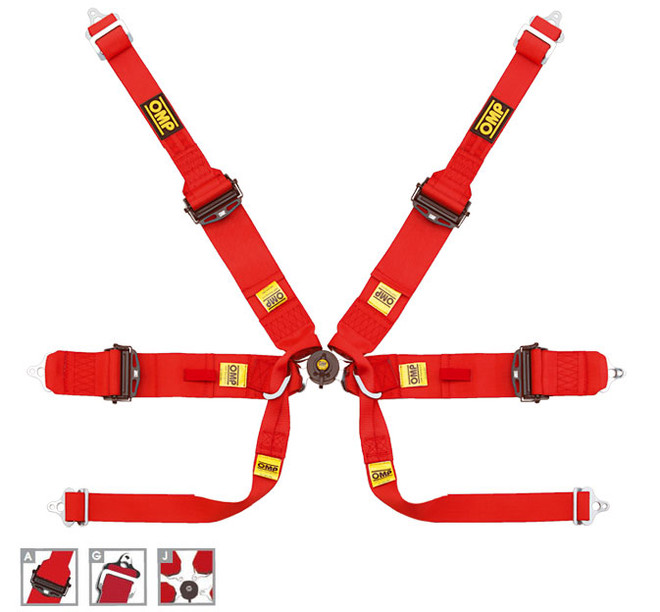 OMP 6 Point Safety Racing Harness: 807 FORMULA