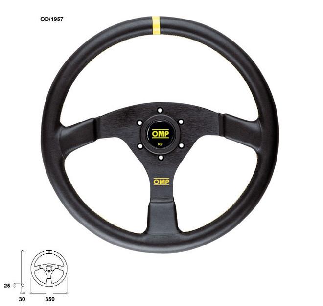 OMP Velocita 350mm Flat Steering Wheel Suede Leather
