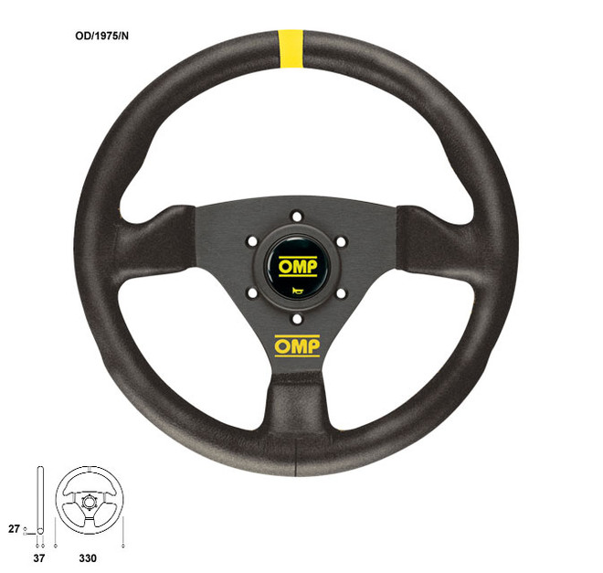 OMP Trecento 300mm Flat Steering Wheel Suede Leather
