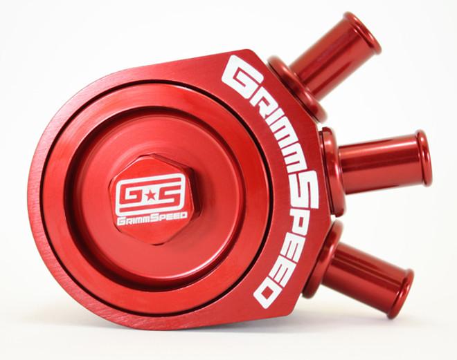 GrimmSpeed Air/Oil Separator (RED) - Turbo 02-07 WRX / 04+ STi 078006R