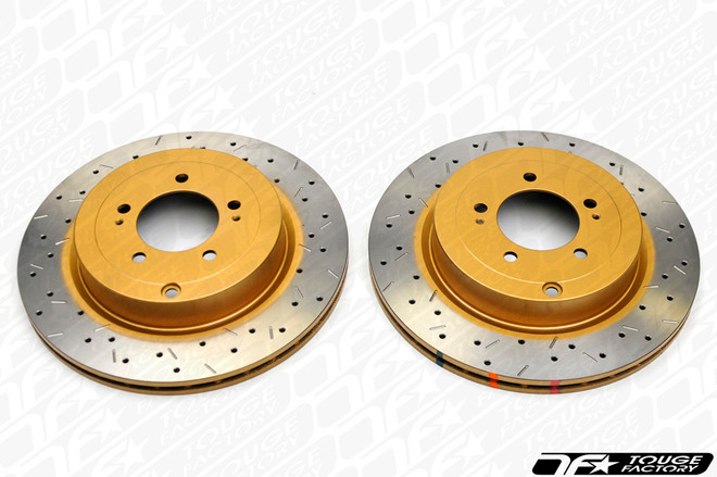 DBA 4000 XS Drilled Slotted Brake Rotors - Nissan 350Z w Brembo Rear