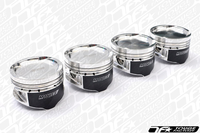 Manley Platinum Forged Pistons - Mitsubishi Evo 4G63 +.5mm 85.5mm (9.0:1 Compression)