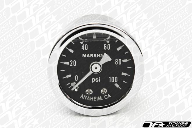 Marshall Shock Vibration Resistant Liquid Filled Fuel Pressure Gauge 0-100psi