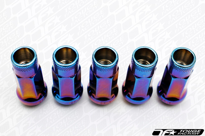 MUTEKI SR48 Open Ended Racing Lug Nut Burnt Neon Blue