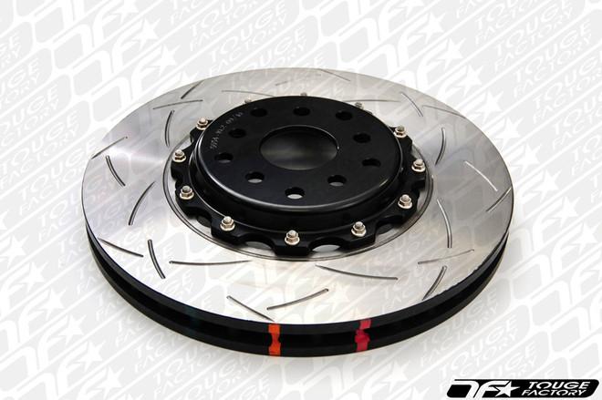 DBA 5000 T-Slot 2-Piece Rotor with Black Aluminum Hats - Evo 8 9 Front