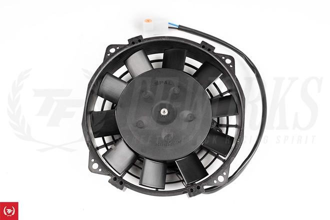 """SPAL 6.5"""" 12V Electric Low Profile Puller Fan - 325 CFM"""