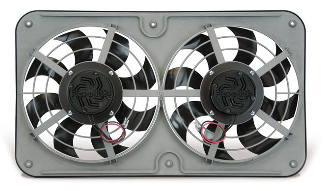 "Flex-a-lite FAL Dual Shrouded 12"" Electric Radiator Cooling Fans - Puller / Pusher Rerversible"