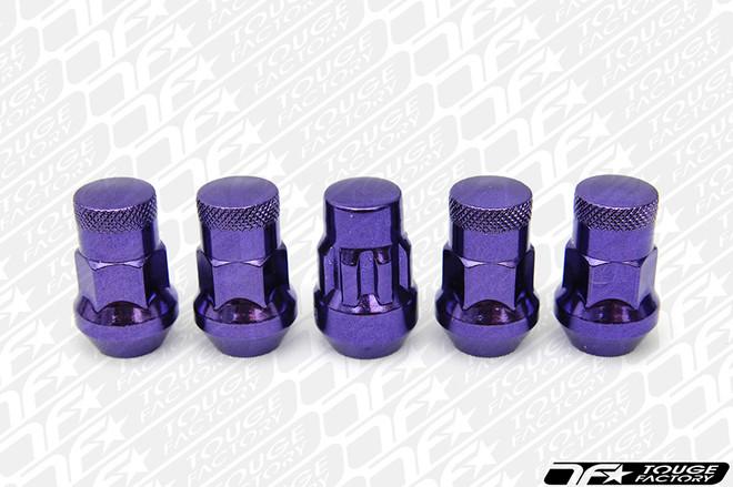 MUTEKI SR35 Closed Ended Lug Nut (Chrome Purple) with Lock Set