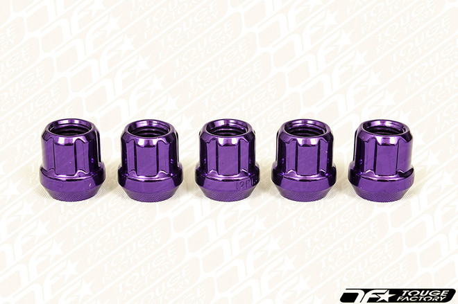 MUTEKI Classic Open Ended Short Lug Nuts - PURPLE