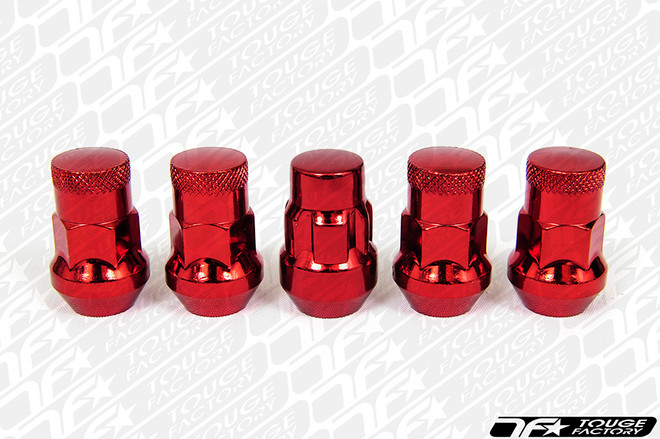 MUTEKI SR35 Closed Ended Lug Nut with Lock Set - RED