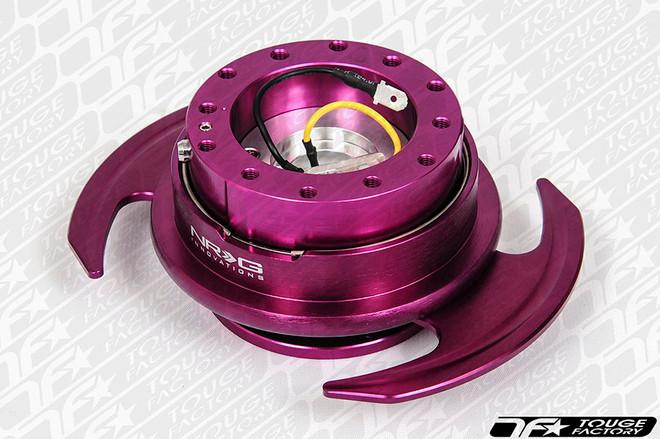NRG Quick Release Kit Gen 3.0 - Purple Body/Purple Ring w/ Handles
