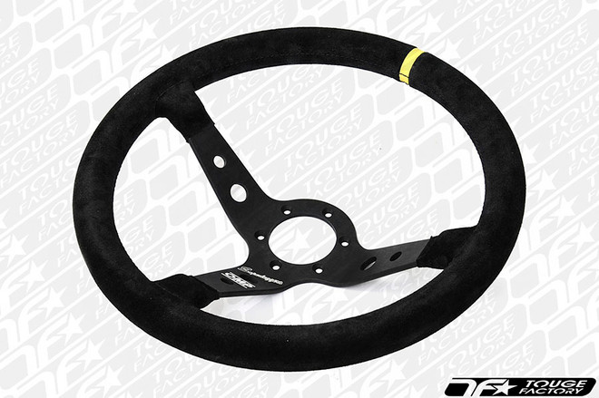 OMP Corsica Superleggero 350mm Steering Wheel - Black Suede with Black Spokes (ONLY 1.45LBS!)