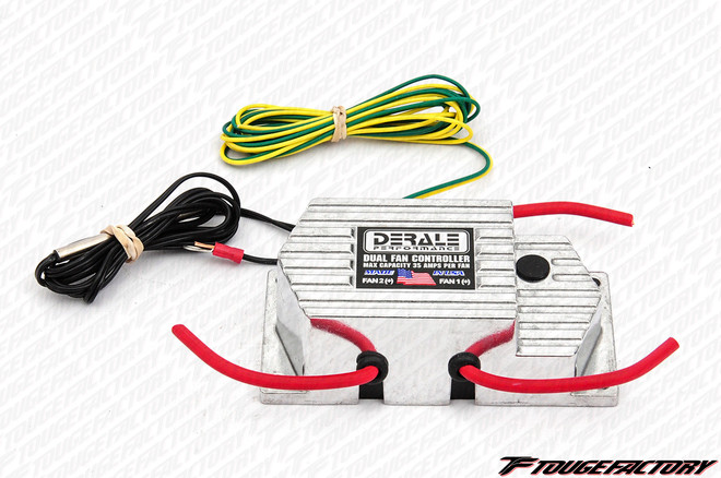 Derale Performance Dual Radiator Fan Controller - Push In Probe