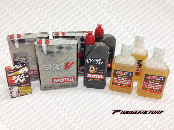 Complete Fluid Change MItsubishi Evo 8 9 X - Motul 300V Engine Oil Package